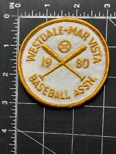 Vintage Westdale Mar Vista Baseball Assn. 1980 Patch Association Los Angeles CA