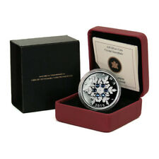 Canada Crystal Snowflake Blue $20 2010  Proof Silver Crown RCM Case & COA