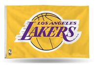 LOS ANGELES LAKERS FLAG 3'X5' NBA L.A. LAKERS BANNER: PURPLE AND GOLD AVAILABLE
