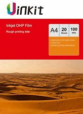 A4 Inkjet Printing OHP Film Overhead Project Film Clear - 20 Sheets Uinkit