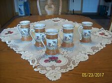 Mugs Set Of 5 Porcelain SSF South San Franciso Made In Italy Senic Village Patte