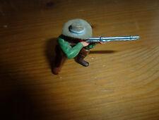 Petit soldat en plastique, Trappeur, Western Cow Boy à genoux, Elastolin