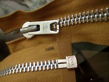 "True Vtg 70's 25.5"" MILITARY ALUMINUM HEAVY JACKET Zipper YKK JAPAN CAMEL/TAN"