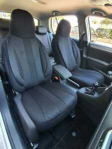 Skoda Octavia II 2004-2013 Maßgefertigt Maß Sitzbezüge Kunstleder schwarz grau