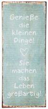 """Laursen - Blechschild """"Genieße die kl..."""" Wandschild Metallschild Shabby 8930-00"""