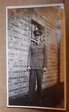 Photograph Social History 1930's Young Man In RAF Uniform Officer