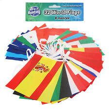 World Cup Flags Bunting Russia Football 9m Banner 14cm X 21cm All 32 Teams 2018