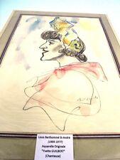 GUILBERT Yvette (1865-1944) CHANTEUSE FRANÇAISE -PORTRAIT PAR BERTHOMME St-A (F)