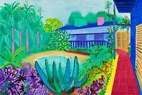 "David Hockney Garden Reproduction Print Poster Art Pop Vintage 20x30"""