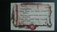 'Smile Awhile; And While You Smile Another Smiles' Alfred Steibel 1913 Postcard