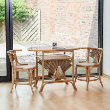 Atlanta Cane Wicker Dining Breakfast Table Chair Set for 2