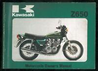 Owner's Manual KAWASAKI Z 650 B3 - 1978 / 1979 Owners Manuel d'entretien Anglais