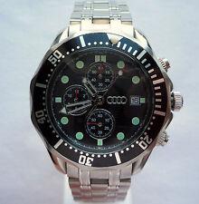 Audi Classic Diver Business Sport Military Retro Scuba Design Chronograph Watch