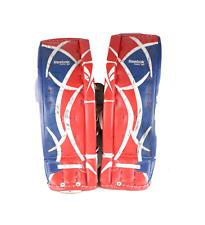 Reebok Revoke 7000 SR 32 +1 Used Goalie Hockey Leg Pads Red White Blue Leather
