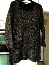 b29ea41bef31 Ladies black long sequin tunic with front pockets size 12