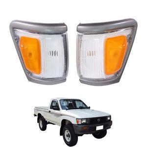 Front Corner Turn Signal lights Indicator For 88-97 Toyota Hilux LN106 4WD SR5