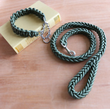 Dog Collar Pet Supplies Nylon Rope Eight-strand Braided with Traction Rope Chain