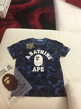 Men's  Bape A Bathing Ape Shirt Blue Camo Size Medium
