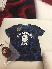 Men's  Bape A Bathing Ape Shirt Blue Camo Size L