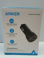 Anker Power Drive 2 24W High Speed Car Charger - 2 USB Ports - NEW