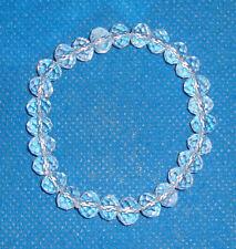 Genuine QUARTZ CRYSTAL (SPHATIK) Gemstone Bracelet Crystal Bracelet