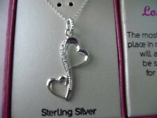 Footnotes Sterling Silver .925 Infinity Love Heart Pendant & Necklace