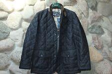 Barbour Jacket Coat Quilted Sander Dress Gordon Navy UK Sizing XX-Large XXL