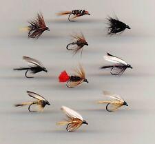 Trout Flies: BARBLESS Wet Flies x 10 all size 12 (Code 051)