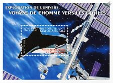 NASA Shuttle at International Space Station (ISS) Stamp Sheet (2000 Madagascar)