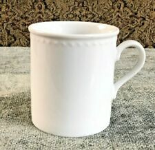 Crate & Barrell Staccato Kathleen Willis Porcelain White Coffee Cup Mug