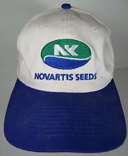 VINTAGE 1990s NOVARTIS SEEDS FARM SEED AGRICULTURAL ADVERTISING SNAPBACK HAT CAP
