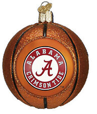OLD WORLD CHRISTMAS ALABAMA CRIMSON TIDE BASKETBALL GLASS ORNAMENT 3""