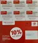 6 Stück 10 % Rossmann Coupons Gutscheine ggf. DM & Müller  31.12.2021
