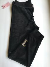 Juicy Couture Black Velour Pants Size small NWT