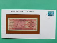 Netherland Antillies 1 Gulden Uncirculated Franklin Mint Banknote Cover SNo46134