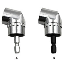"105°Angle 1/4"" 6mm Extension Hex Drill Bit Screwdriver Socket Holder AdaptorSC"