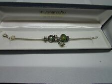 """Sterling Silver Michael Anthony Charm Bracelet MA 7"""" 4 Charms 19.5 gm"""