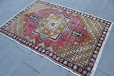 "Vintage Handmade Turkish Anatolian Red Area Rug Carpet 69""x47"""