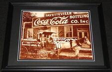 Vintage Coca Cola Fayetteville Bottling Framed 11x14 Poster Display Official Rep