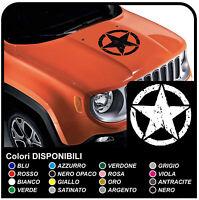 Adesivo Sticker Jeep Renegade cofano STELLA effetto consumato military stars