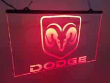 Dodge Ram Custom Red Led Lighted Sign Game Room , Bar , garage Sign