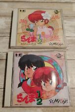 Ranma 1/2 Two Game Lot Nec PC Engine CD Rom Japan Video Games