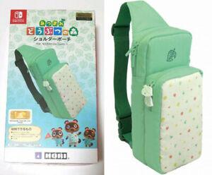 Animal Crossing Green Pouch Bag Case For Nintendo Switch / Lite Nylon Shoulder
