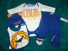 Ladybird Baby Boys little but loud roar bodysuit hat bib leggings newborn new