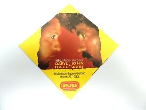 """""""Hall & Oates"""" WPLJ Radio Concert Sticker March 21st, 1983 MSG/Mint"""