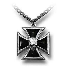 ALCHEMY GOTHIC - BLACK KNIGHT'S CROSS PENDANT - GOTH PAGAN PUNK ROCK MALTESE