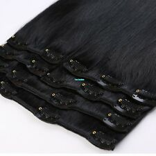 100% Natural Remy Clip in Hair Extensions 8 Pieces Full Head Real Human Hair MX5
