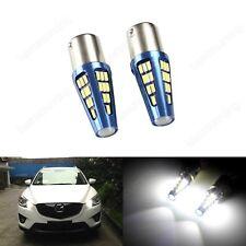 2pcs P21W 1156 BA15S 5W LED Car Tail Turn Signal Reverse Light Bulbs Xenon 6000K
