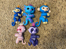 Lot of 5 Fingerlings WowWee EUC Tested Working Dragon Sloth Monkey Blue Pink