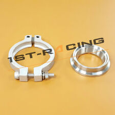 Stainless Inlet V BAND CLAMP +FLANGE Fit TIAL 60mm MVRCLO V60 External Wastegate